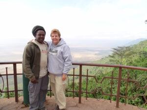 tanzania safari guide enjoying the view