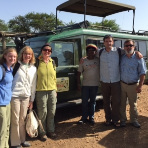 Tanzania safari guests with guide at Proud African Safaris